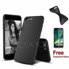 Silicone/Rubber/Gel Ultra thin Soft Case Tempered Glass Cover For iPhone 6 6s 7