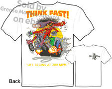 Ed Roth Rat Fink Hot Rod T Shirts Big Daddy Clothing Think Fast Racing Apparel