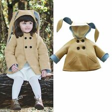 Newborn Girl Boys Warm Outerwear Hooded Coat Cotton Jacket Kids Winter Clothes