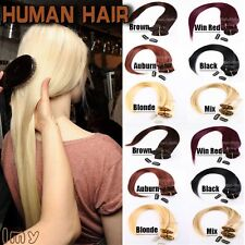 "100% Full Head Clip In Remy Human Hair Extensions 15"" 18"" 20"" 70g Hair Weft MX33"