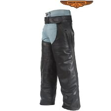 Naked Leather Motorcycle Chaps W/Removable Liner Heavy Duty New SM to 5XL (C3000