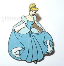 Disney Sparkle Glitter Princess Cinderella in Her Beautiful Blue Dress Gown Pin