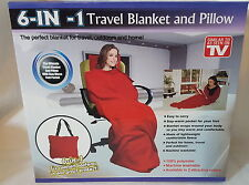 6 /In/1 Travel Blanket & Inflatable Pillow Home Trip Festival Camping Cosy+ Bag