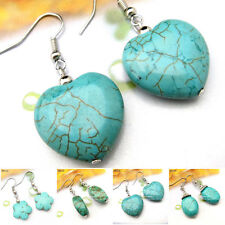 Buy 2 Get 1 Free Tibetan Heart Turquoise Gemstone Tibet Earrings EH1
