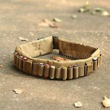 Tactical 25 Shotgun Shell Bandolier Belt Hunting Ammo Holder Belt Sling A0D3