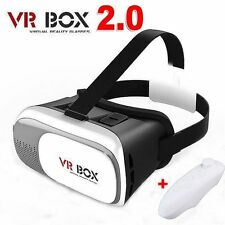 Cardboard VR BOX 2.0 Google Virtual Reality 3D Glasses Remote for Samsung iPhone