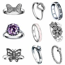 Size 5-9 Fashion Wedding Rings New Gift for Lady Girl Genuine 925 Silver Jewelry