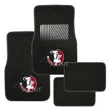 Florida Semindles NCAA Auto Truck College License 4PC Front + Rear Floor Mats