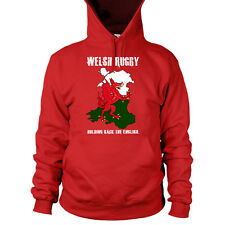 Welsh Rugby Hoodie Funny English Print Men 6 Nations Flag Wales Top Dragon L7