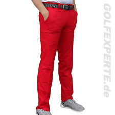 J. LINDEBERG GOLF MEN'S TROUSERS ELOF LIGHT POLY LIGHT RED INTENSE