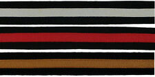 7/8 (22mm) Dual Color Stripe Grosgrain Ribbon 1076 (2 yds)