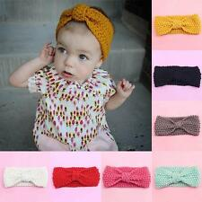 Baby DIY Knit Headband Boy Girl Bow Knot Hairband Kids Rabbit Turban Headwrap