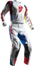 NEW 2017 THOR MX PULSE AIR WHITE BLUE RED ADULT RACE GEAR COMBO JERSEY PANTS ATV