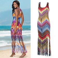 Womens Sexy Evening Party Dress Boho Summer Beach Long Maxi Dresses Sundress