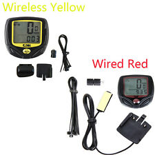 Wireless LCD Bike Computer Speedo Odometer Waterproof Speedometer Cycle Bicycle