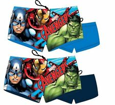 BOYS KIDS CHILDS OFFICIAL AVENGERS SWIMMING TRUNKS SHORTS HOLIDAY