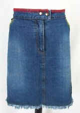 Womens Plus Denim Jean Skirt size 20 Above Knee Embroidery