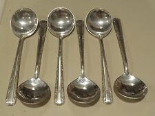 (6) Vintage TOWLE CANDLELIGHT Sterling Silver 6.5-in Bouillon Cream Soup Spoons