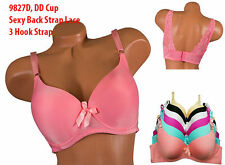 Angel Lot 1 3 6 Underwired Light Padded Full Cup Back Strap Lace Plain D/DD Bra