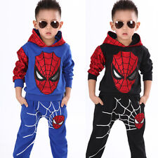 2pcs kids baby boy Spider-man tops+pants Outfits&set boy Spring Casual clothes