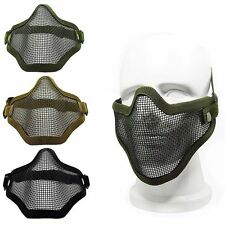 Steel Net Mesh Fencing Cosplay Mask Half Cover Face Protective Tactical Mask