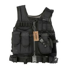Tactical Vest BLACK Large Military Special Forces Swat Police Hunting