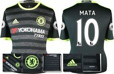 *16 / 17 - ADIDAS ; CHELSEA 3rd KIT SHIRT SS + PATCHES / MATA 10 = KIDS SIZE*