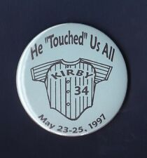 """Kirby Puckett Minnesota Twins 1997 He """"Touched"""" Us All pinback button"""