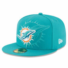 Miami Dolphins New Era NFL 16 Sideline Official Youth 59Fifty Headwear - Aqua
