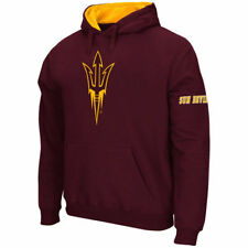 Arizona State Sun Devils Stadium Athletic Big Logo Po Hood Sweatshirts - Maroon