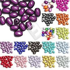 10/25pcs Acrylic Oval Miracle Beads Spacer Illusion 19x13.5/11x8mm Wholesale