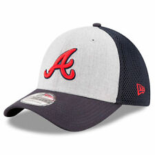 Atlanta Braves New Era Neo 39THIRTY Flex Hat - Heathered Gray/Navy - MLB