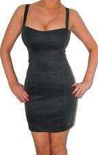 Sexy Gray Cage Cut Out Back Backless Bodycon Mini Dress NEW COCKTAIL CLUB DRESS