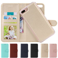 Luxury Flip Leather Card Pocket Removable Wallet Case Cover for iPhone 6s/7 Plus
