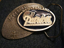 "New England Patriots 1994 NFLP Belt Buckle pewter NOS 3"" x 2"""
