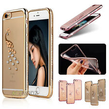 Ultra Thin Crystal Bling Soft TPU Clear Back Case Cover For iPhone 7 Plus 6 6S +