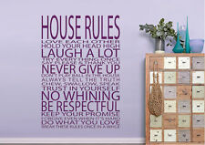 Quotes Wall Stickers House Rules Love Each Other Vinyl Decal 15 Colours 01184