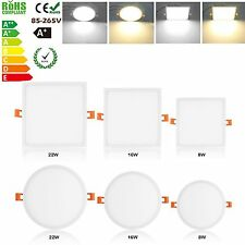8W/16W/22W LED Recessed Ceiling Panel Light LED Spot Downlight Lamp Fixtures Kit