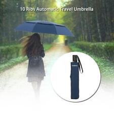 TOMSHOO Golf Umbrella  Auto Open/Close Umbrella  Double Canopy Windproof M5L1