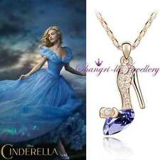 18K GOLD / SILVER Layered CINDERELLA Necklace with SWAROVSKI CRYSTAL K505 PURPLE