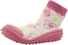 Skidders Infant Toddler Girl's Skidproof Hibiscus Toss Pink Sneakers Shoes