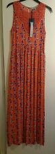 House of fraser dickins & jones summer dress size 12 coral with flowers BNWT