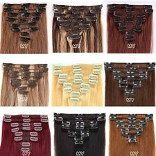 Any Colour Clip In Full Head Extensions Remy Real 100% Human Hair 10-22Inches II