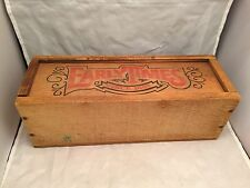 """Vintage Early Times Whiskey """"Since 1860"""" Wooden Box w/ Slide Top - 12"""" Long"""
