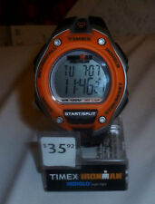 New IRONMAN Timex Traditional 30-Lap Over-Sized Black/Orange/Silver (T5K529)