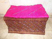 AU Pure silk Antique Vintage Sari Saree Fabric SCRAP 4y Su 1578 1y Rani #ABEGS