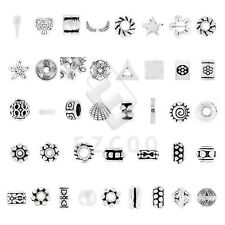 10-1000pcs Tibetan Silver Spacer Loose Charm Beads Jewelry Findings 40 Style YB