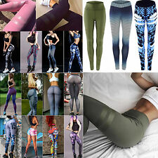 Women High Waist Gym Yoga Fitness Leggings Sports Running Stretch Pants Trousers