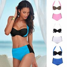 2017 Women Sexy High Waisted Swimwear Bikini Bandage Push Up Beachwear Swimsuit