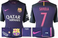 *16 / 17 - NIKE ; BARCELONA AWAY SHIRT SS / SAVIOLA 7 = KIDS SIZE*